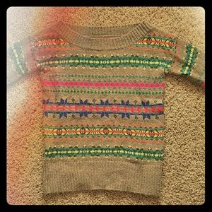 AE Neon Boat Neck Holiday Sweater